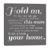 Phillip Phillips Hold On Lyrics Wall Sign