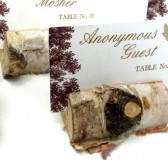 Birch Bark Place Card Holder