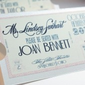 Vintage Hollywood Ticket Place Cards