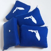 Home State Makeup Bags // Set of Four Cobalt Blue