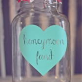 Honeymoon Fund Sweetheart Table Jar