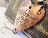 Personalized Fishing Lure - I'm Hooked on You and Custom Date