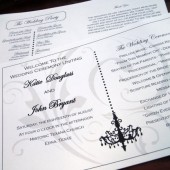 Chandelovely Wedding Program