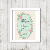 Vintage Floral Welcome to Our Wedding Poster