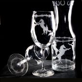 Horse lover set, gift for couple, wine glasses