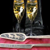 Cowboy Wedding Cake Server, Champagne Flute set