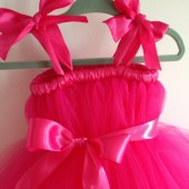 Hot pink tulle flower girl dress
