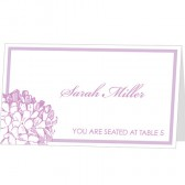 Hyndrangea Place Card Template