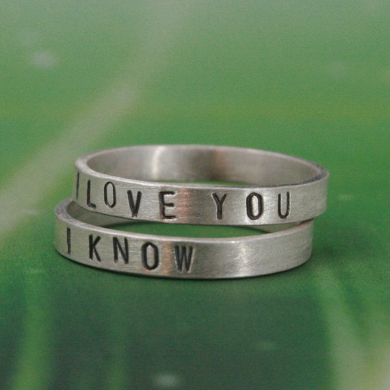 i love you i know rings by SproutsbyBlazerArts