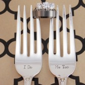 I Do / Me Too Wedding Fork Set, Wedding Silverware