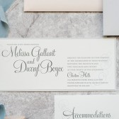 Blush Pink Wedding Invitation | Silver Invitation | Formal Wedding Invitation Suite | Elegant Wedding | Formal | Gray | Melissa & Darryl