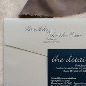 Navy and Silver Wedding Invitation | Formal Silver Invitation | Modern Wedding Invitation| Traditional Invitation | Kira & Lincoln