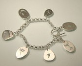 Summer's Lease Hath all too short a date, a summer memento charm bracelet, made in Maine
