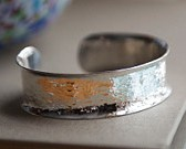 Hammered Hand-Made Silver Cuff, Made in Maine