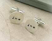 Hand Stamped Sterling Silver Cuff Links