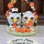owl cake topper, custom cake topper, wedding cake topper, fall wedding, military wedding, love bird cake topper