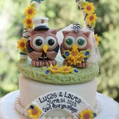 custom cake topper, love bird cake topper, sunflower wedding, owl cake topper, military wedding