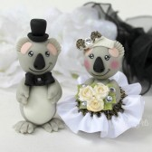 koala cake topper, custom cake topper, animal cake topper, Australian wedding, bear cake topper