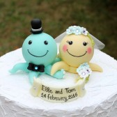 octopus cake topper, custom cake topper, beach wedding, beach cake topper, sea cake topper, ocean wedding