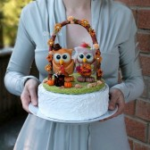 Owl wedding cake topper with floral arch and base, owl wedding, love bird cake topper, custom cake topper, wedding keepsake, animal cake topper, cute cake topper, fall wedding, fall cake topper, autumn cake topper