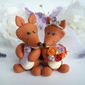fox cake topper, wedding cake topper, custom cake topper, personalized wedding