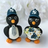 penguin cake topper, custom cake topper, baseball cake topper, baseball wedding, love bird cake topper