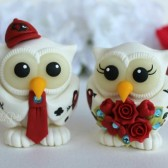 Tattooed wedding cake topper, owl cake topper, love bird cake topper,custom cake topper, wedding cake topper, cute cake topper, bride groom figurines, personalized wedding, hand made cake topper, animal cake topper, wedding keepsake
