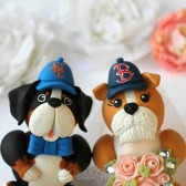 Dog cake topper, cake topper with dogs, wedding dog, custom cake topper, bride and groom, pet cake topper