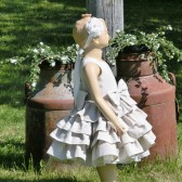Country flower girl dress