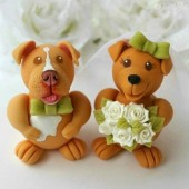dog cake topper, wedding cake topper, pet cake topper, cake topper with dog, custom cake topper
