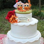 Owl cake topper, fall cake topper, love bird cake topper, autumn wedding