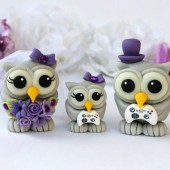 wedding cake topper, owl cake topper, purple wedding, love bird cake topper, cake topper with baby, owl family, cute cake topper, game controller cake topper, nerd cake topper, gamer cake topper