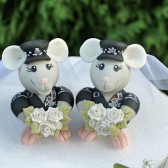 mouse cake topper, mice cake topper, same sex cake topper, lesbian cake topper, mrs and mrs cake topper, wedding cake topper