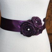 Plum Flower Girl Sash
