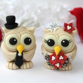 owl cake topper, winter wedding, champagne wedding, Christmas wedding, love bird cake topper, custom cake topper, bride ad groom cake topper, champagne wedding, winter wonderland wedding