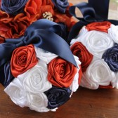 Navy Blue, Rust, & White Fall Wedding Pomanders