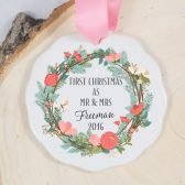 First Christmas Ornament - Mr and Mrs Ornament - Wedding gift - First Christmas as Mr & Mrs
