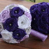 Purple, Lavender, & White Wedding Bouquet