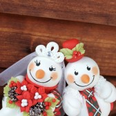 snowmen cake topper, snowman cake topper, winter cake topper, custom cake topper, winter wedding, winter wonderland wedding, tartan wedding, Scottish wedding, wedding cake topper, Christmas wedding