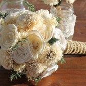 Ivory Sola & Satin Flower Bouquet