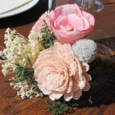 Blush Pink & Silver Sola Flower Bouquet