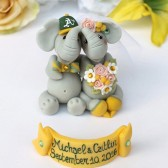 elephant cake topper, custom cake topper, hand made  cake topper, wedding cake topper, elephants in love