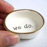handmade ceramic ring dish for bride to be