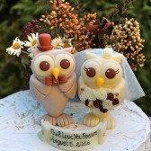 wedding cake topper, owl cake topper, custom cake topper, bird cake topper, fall wedding, love birds