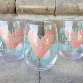 Bridesmaid Proposal Wine Glasses