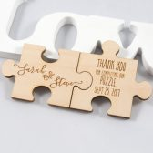 Wedding Favor - Personalized Puzzle Magnet - Wood Wedding Favor - Complete Puzzle - Bridal Shower Favor - Bridal Party Gift