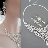 Brides pearl jewelry set