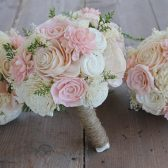 Blush Pink, Light Pink, & Ivory Sola Bouquet