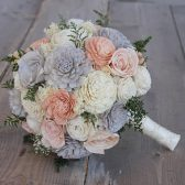 Grey, Dusty Rose, & Ivory Sola Bouquet
