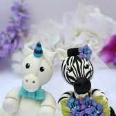 zebra cake topper, wedding cake topper, unicorn cake topper, hand made cake topper, animal cake topper, zebra and unicorn, easy cake topper, custom cake topper, hand made cake topper